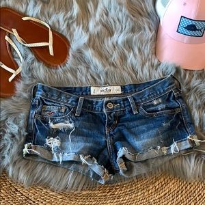 Hollister denim short shorts